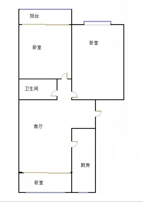 长河明珠 2室2厅 3楼