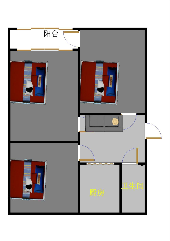 邹李小区 2室1厅  简装 65万