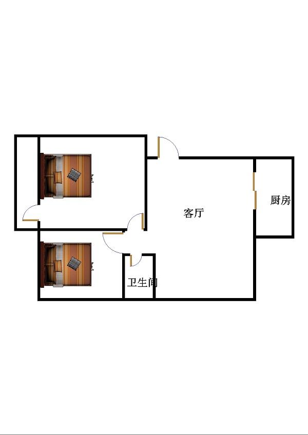 百瑞家园 2室2厅 双证齐全过五年 简装 65万