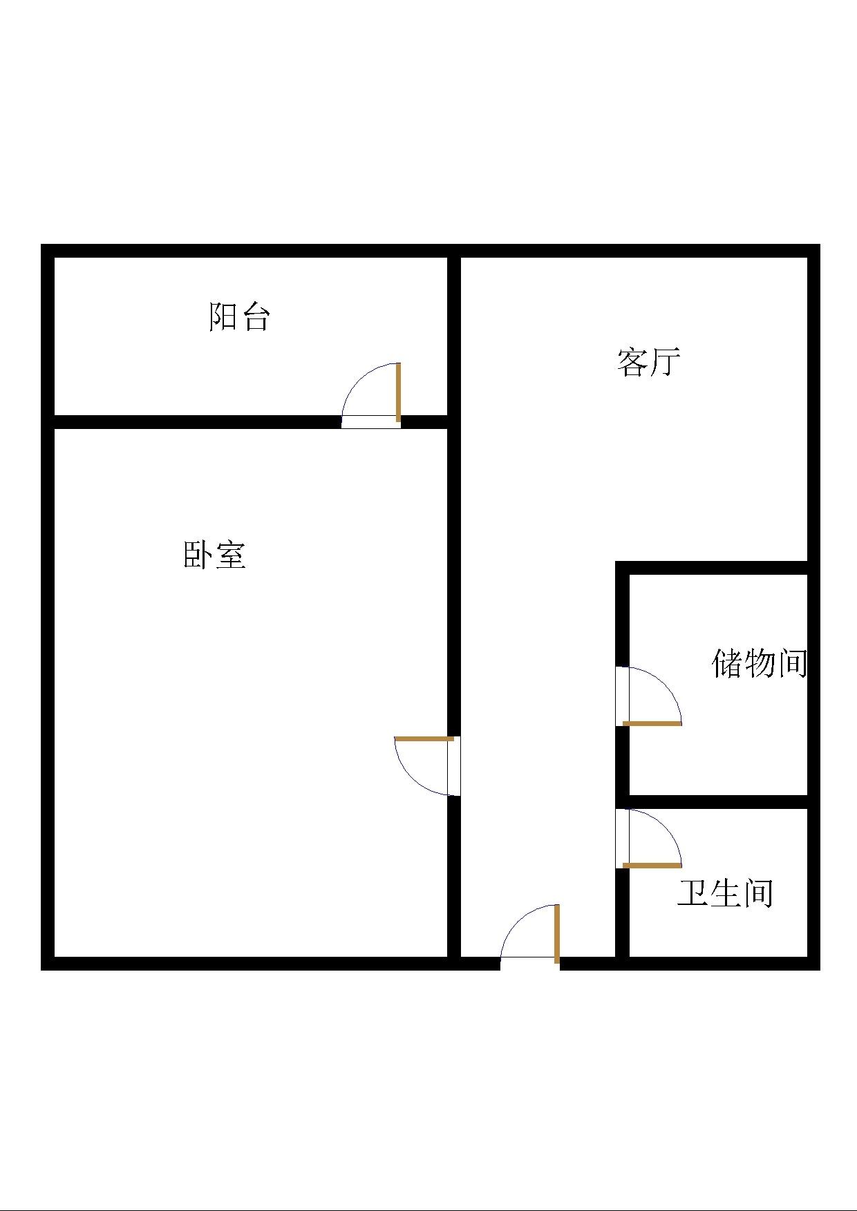 帝景苑小区 1室1厅 4楼
