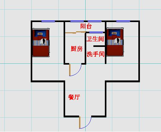岔河小区 2室1厅  简装 70万