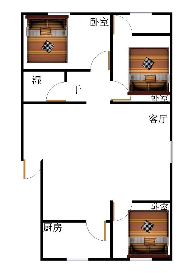 湖滨北路温泉小区 3室1厅 4楼