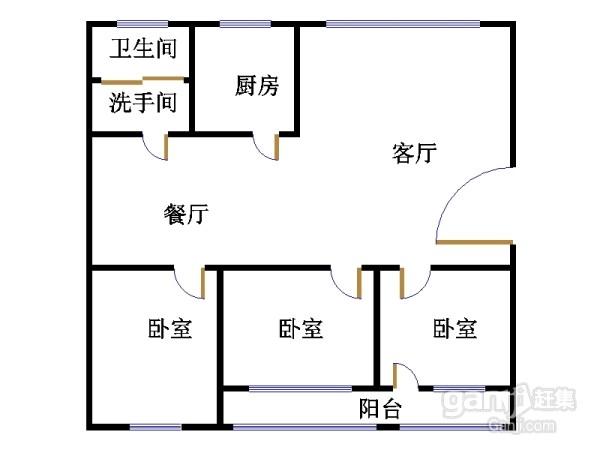 高地世纪城 2室1厅 6楼
