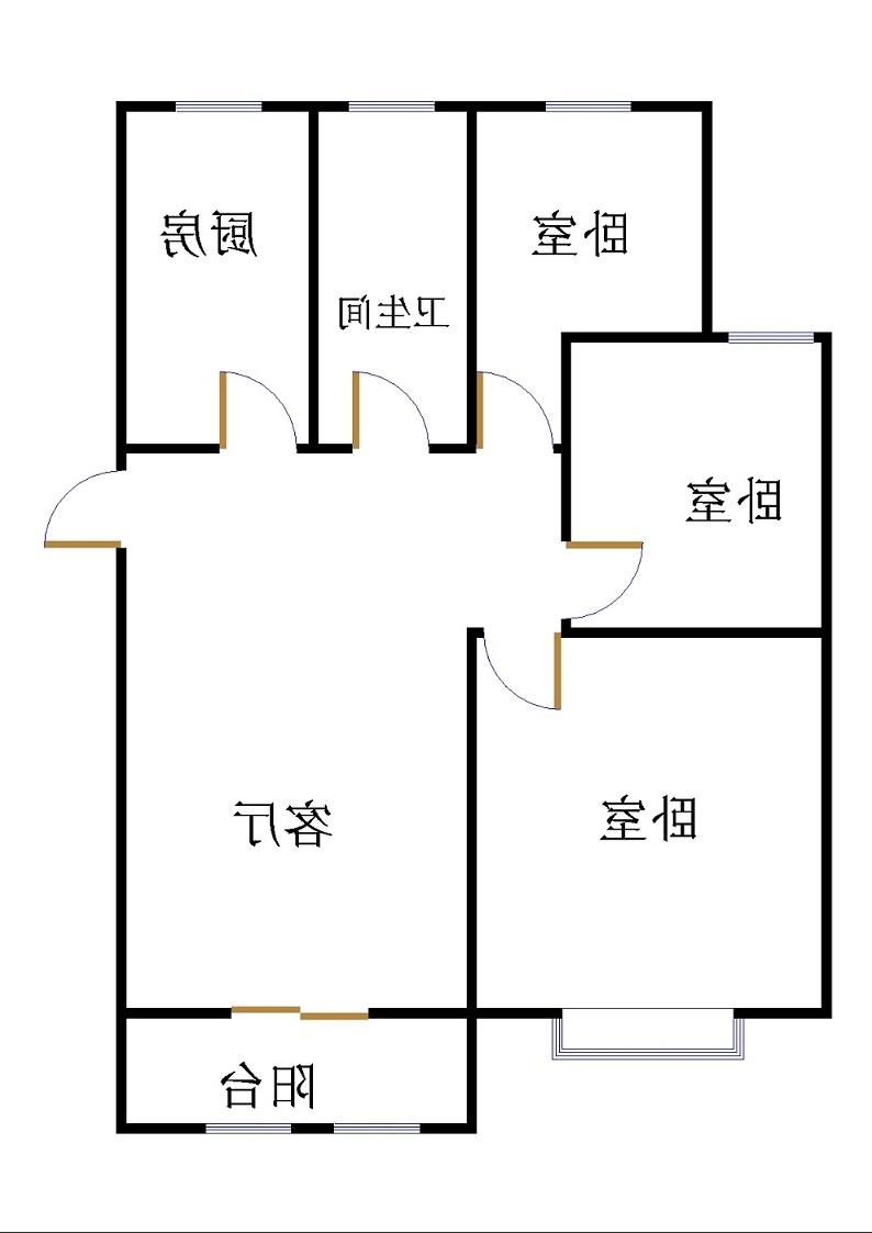 外滩壹号 3室2厅 4楼