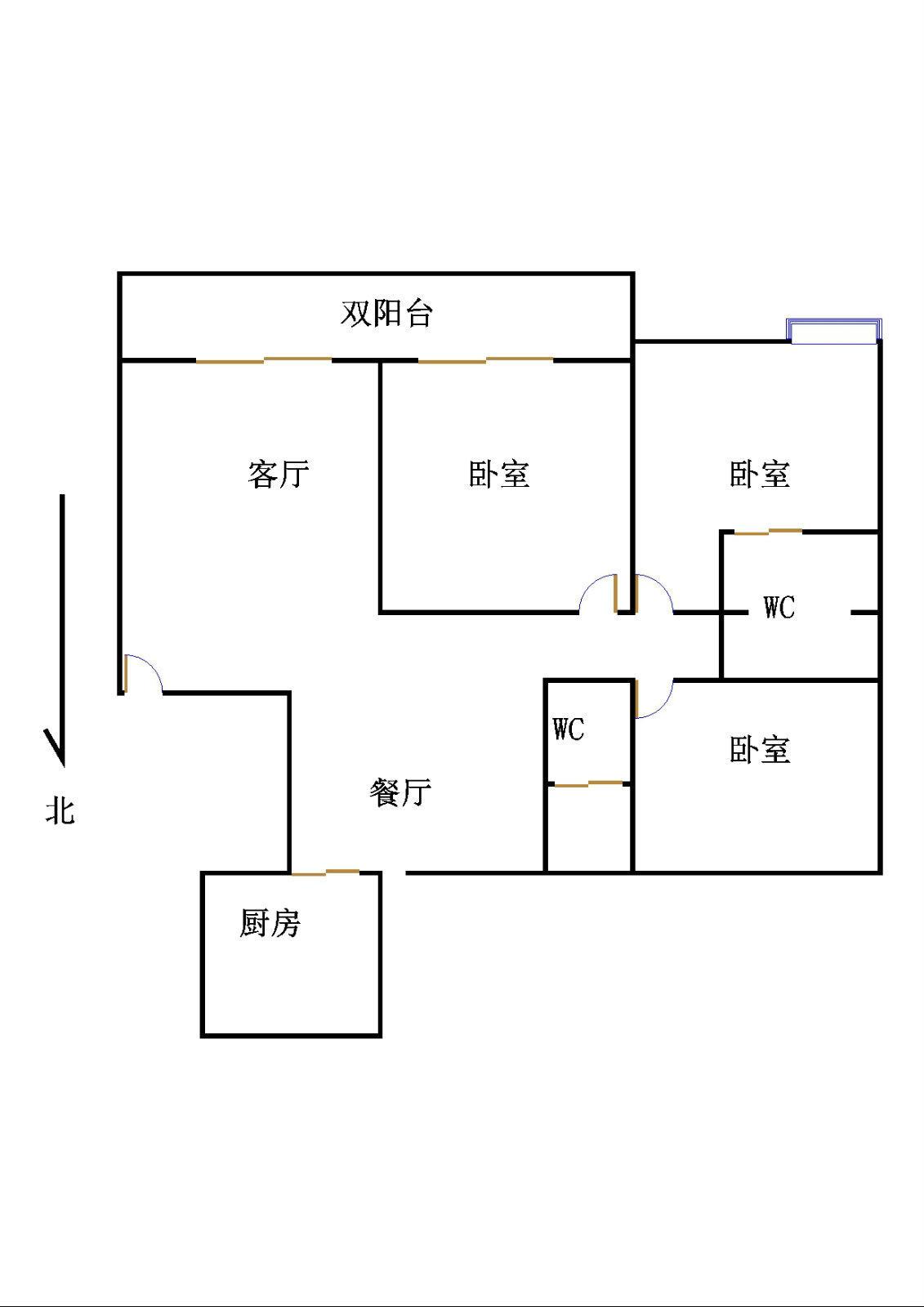 华腾御城 3室2厅  精装 158万