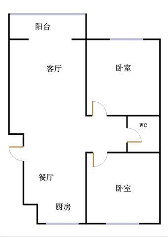 东海富贵苑 2室2厅 双证齐全 简装 90万