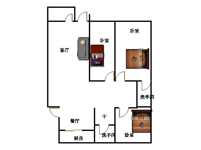 东海现代城小区 3室2厅 双证齐全过五年 简装 110万
