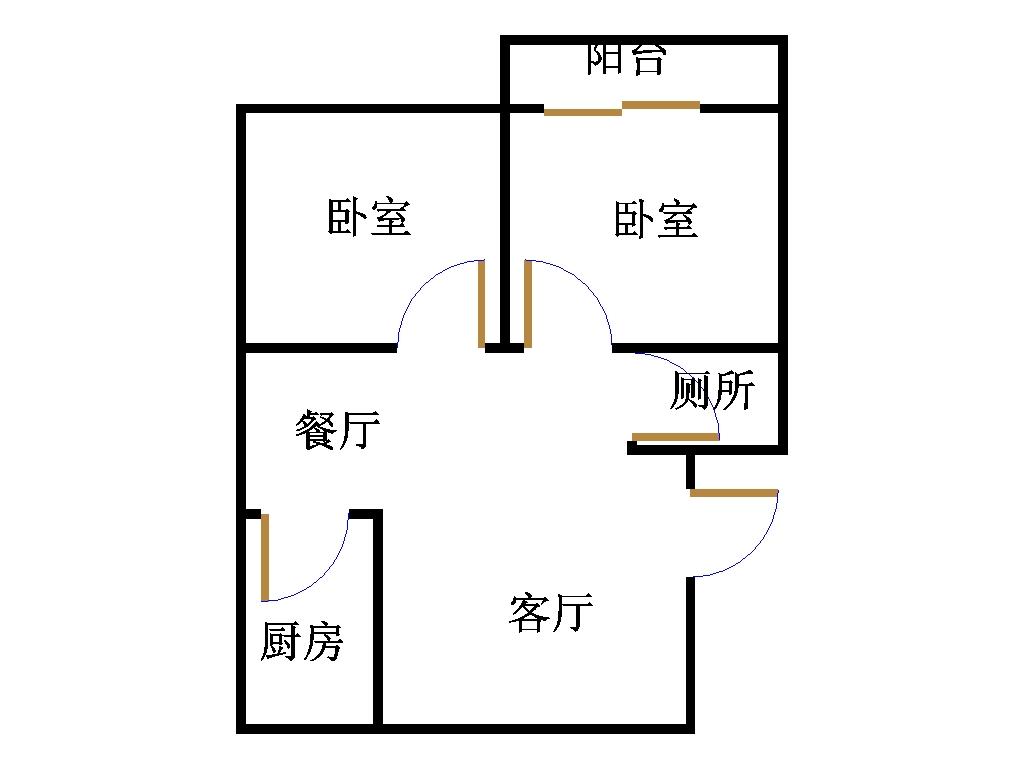 亚太小区 2室2厅  简装 105万