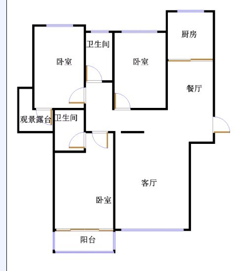 翠湖庄园 3室2厅  精装 170万
