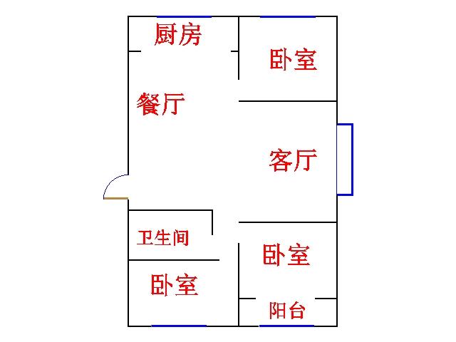 尚城国际 3室2厅  简装 112万