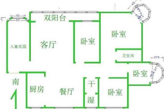 明城雅居 4室2厅  毛坯 266万