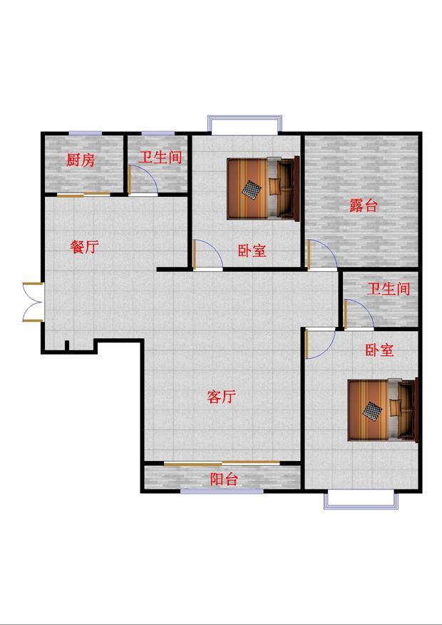 翠湖庄园 2室2厅 双证齐全 精装 135万