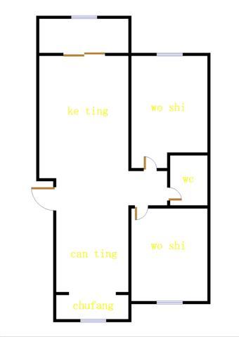 南龙国际花园 2室2厅 10楼
