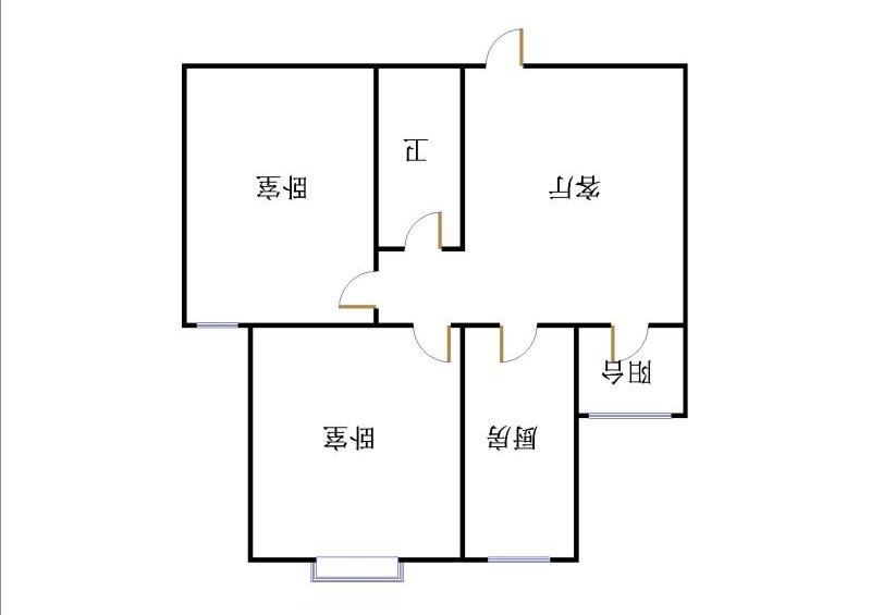 龙溪香岸 2室1厅 双证齐全 精装 60万