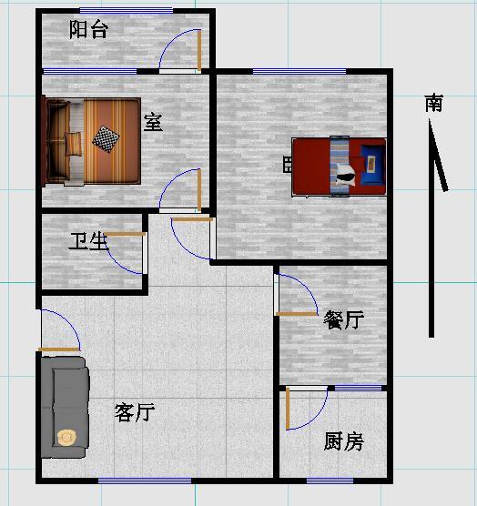 公路局宿舍 2室2厅 双证齐全 简装 75万