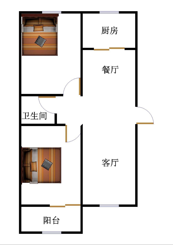 池家堤口 2室1厅 21楼