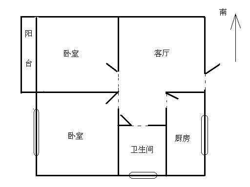 邹李小区 2室1厅 1楼