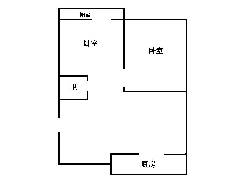 华腾家园 2室2厅 双证齐全 简装 70万