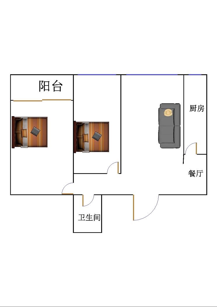 领秀天衢 2室2厅 双证齐全 简装 75万