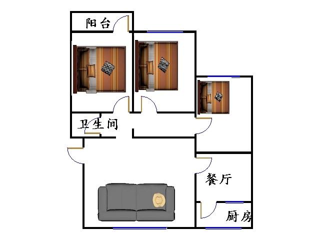 德荣里小区 3室2厅 双证齐全 简装 108万