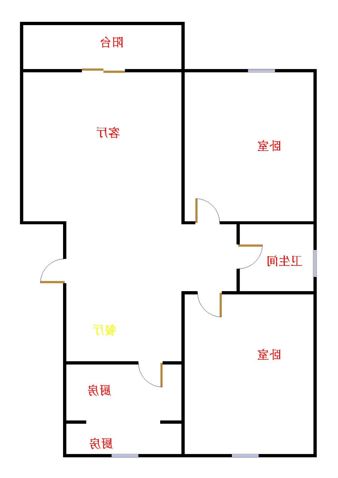 袁桥社区 2室2厅  简装 51万