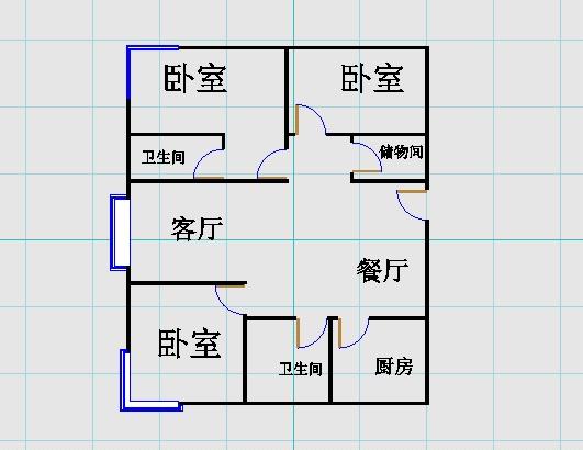 东方明珠小区 3室2厅 23楼