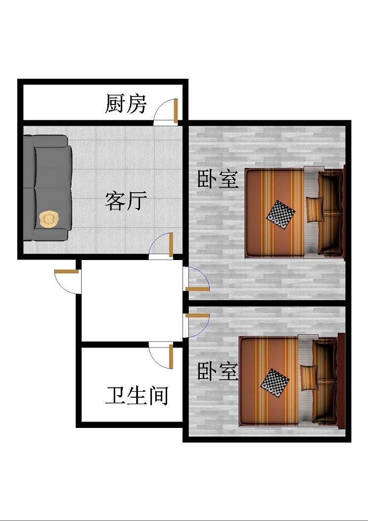 乡镇企业局供销公司家属院 2室1厅 过五年 简装 45万