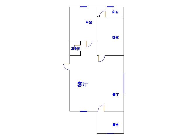 青龙潭小区 2室2厅  简装 105万