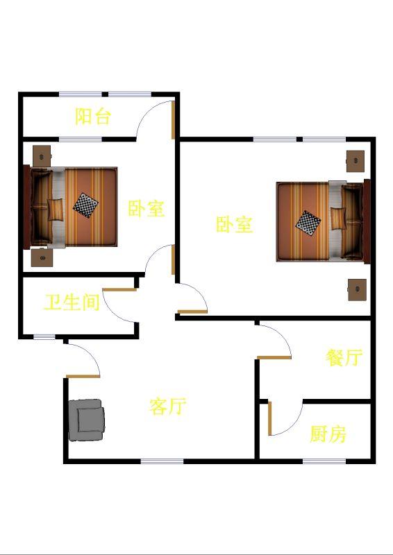 公路局宿舍 3室2厅 双证齐全 精装 61万
