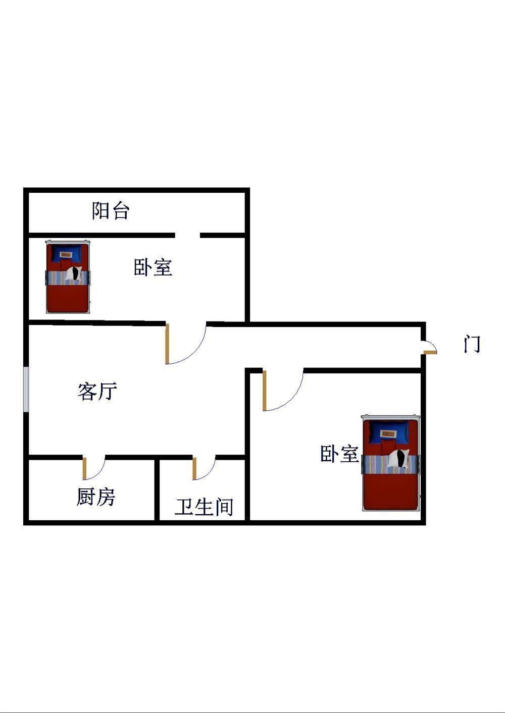 邹李小区 2室1厅  简装 60万
