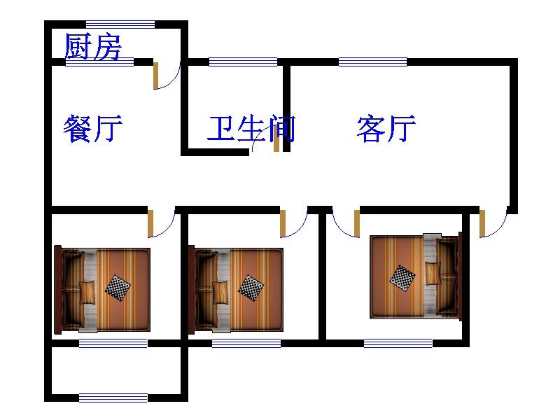 人民医院南宿舍 3室2厅 双证齐全 精装 215万