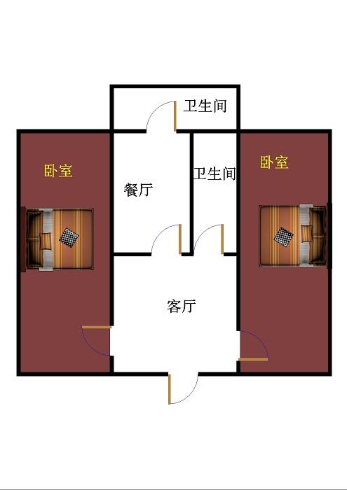 筑路机械厂宿舍 2室2厅 双证齐全 简装 70万