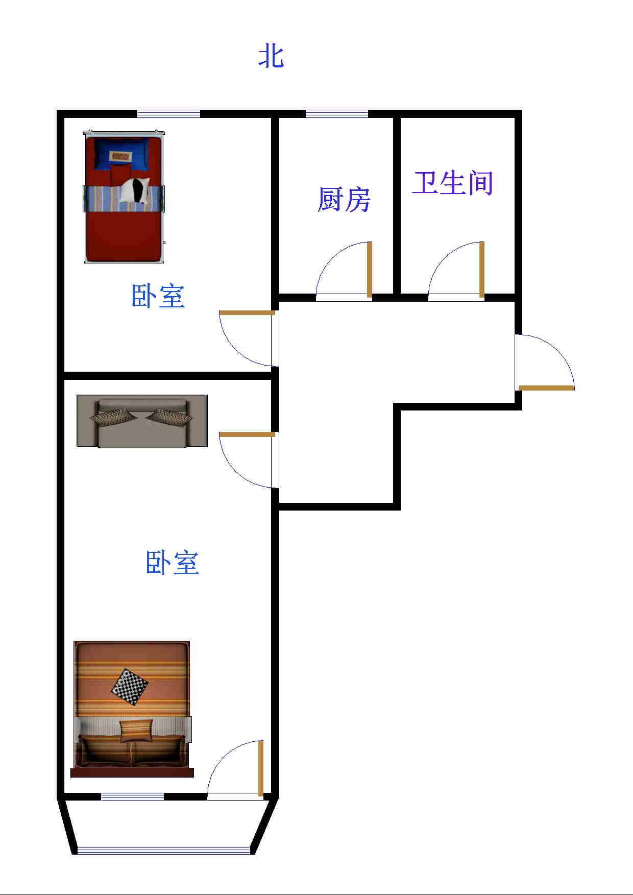 石化小区 1室1厅 3楼