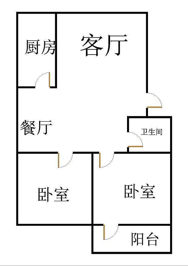 郭家庵小区 2室2厅 4楼