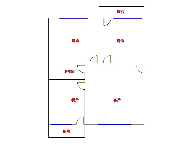 广川小区 2室2厅 双证齐全 简装 68万