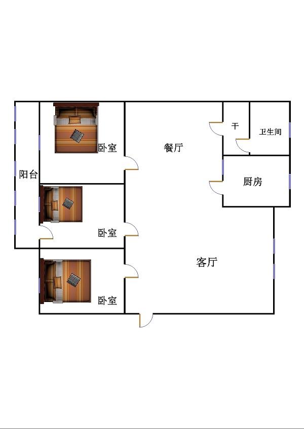 新苑小区 3室2厅 双证齐全 简装 100万
