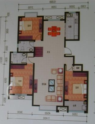 东方夏威夷 3室2厅  毛坯 135万