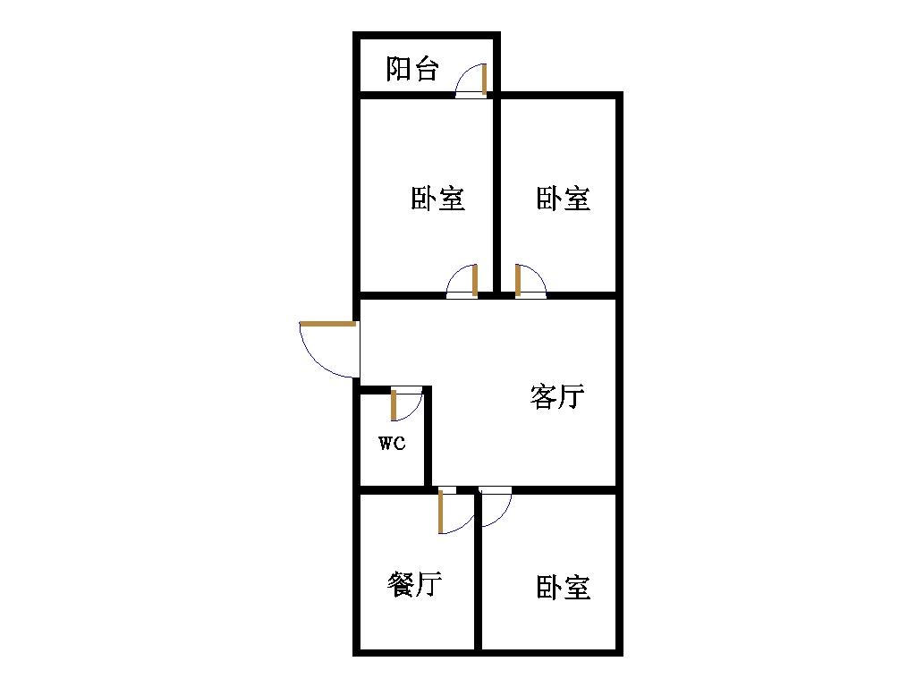 中原输气公司南区 3室2厅  简装 120万