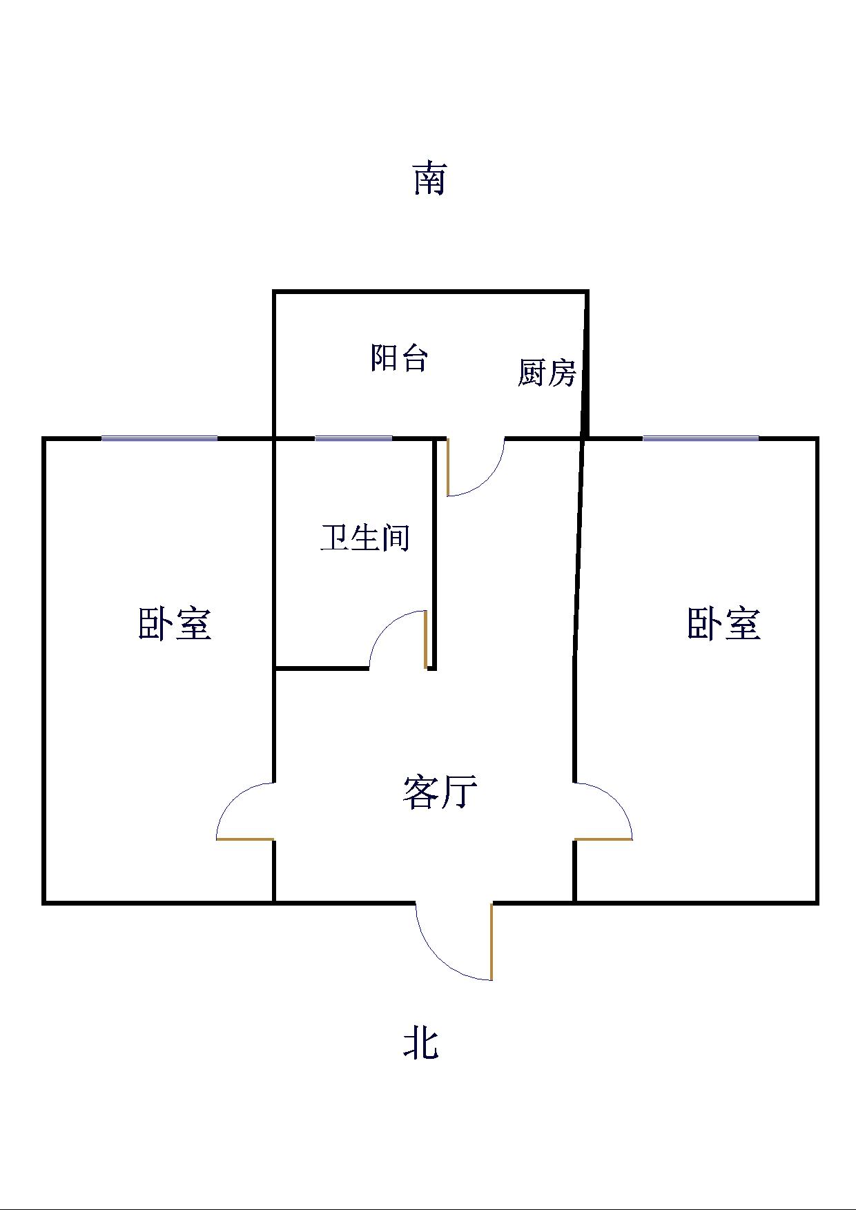 基础局宿舍 2室1厅 4楼