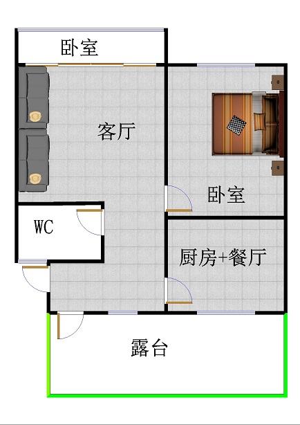 星河湾 1室1厅  简装 34万