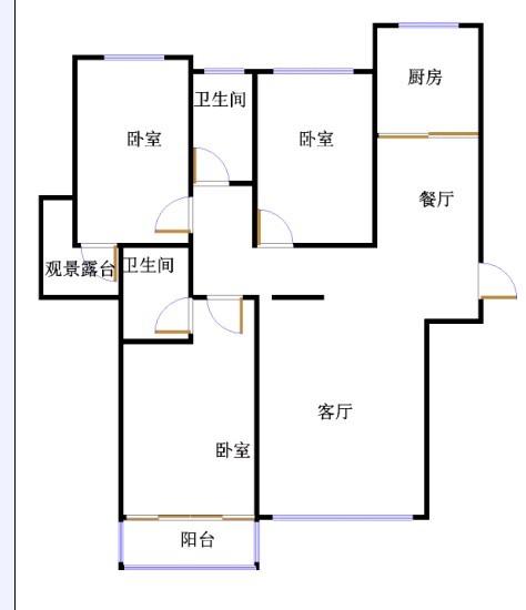 翠湖庄园 3室2厅 双证齐全 毛坯 162万