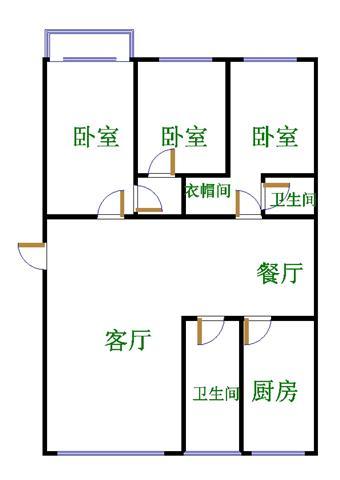 盛和景园 3室2厅 3楼