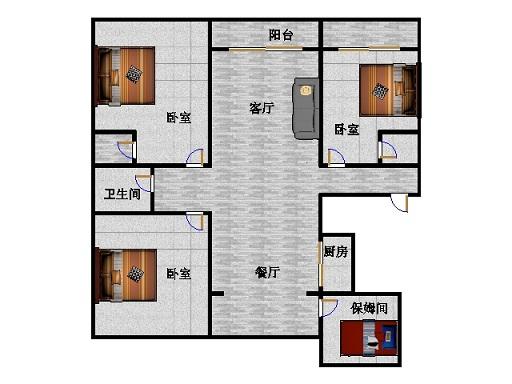 东海香港城 4室2厅  精装 260万