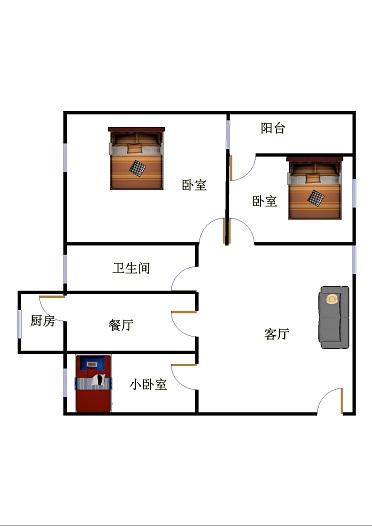 十三局宿舍西区 3室2厅 5楼