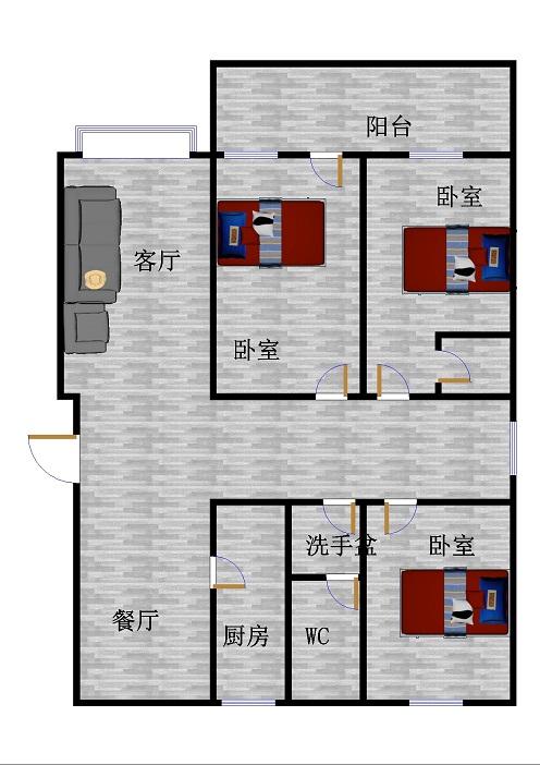 南龙国际花园 3室2厅 过五年 精装 170万