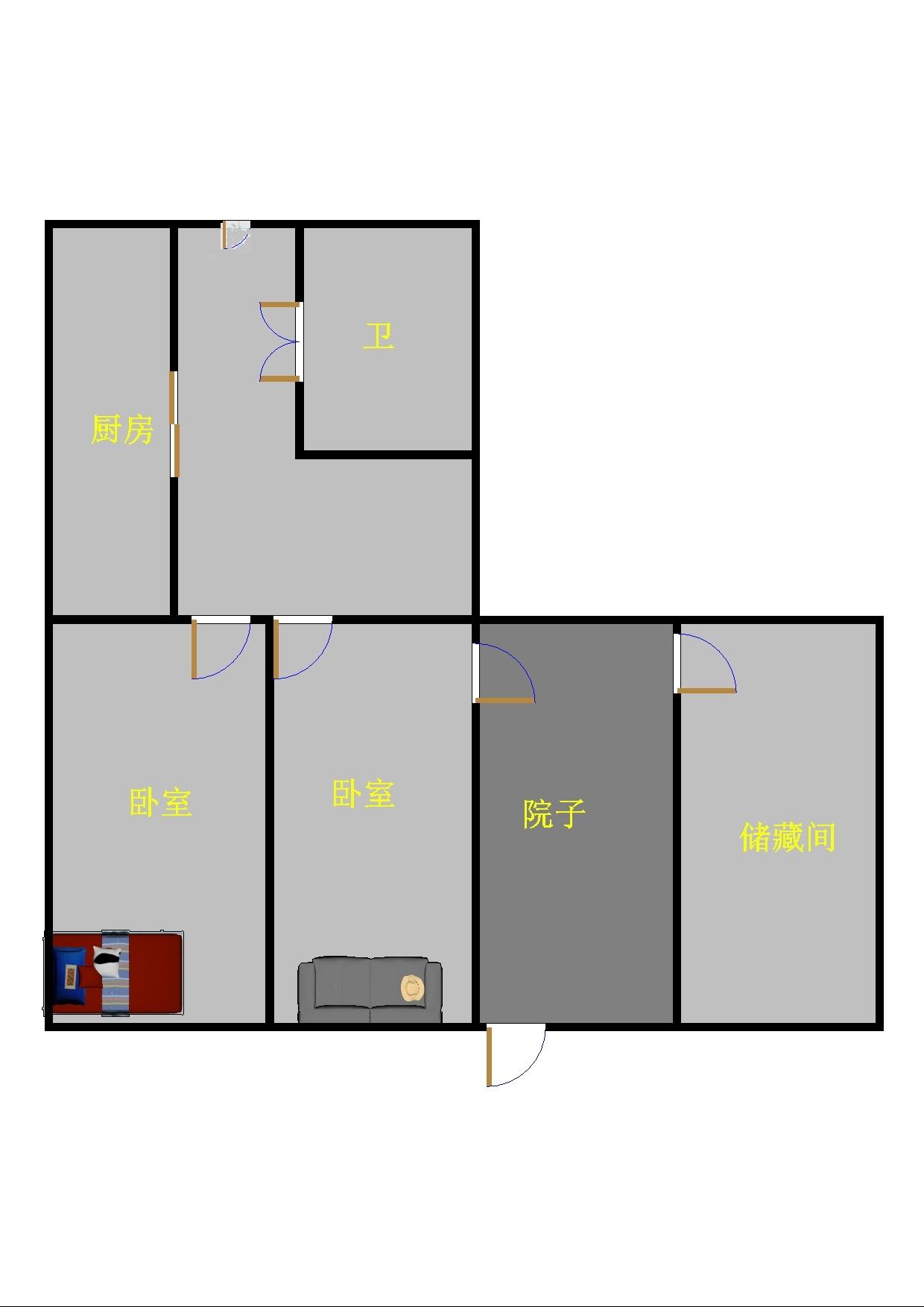 二棉宿舍 1室1厅  精装 75万
