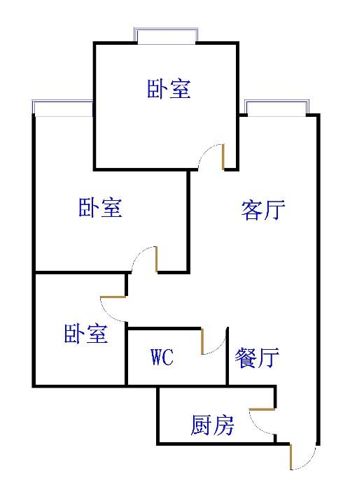 盛世华园 2室2厅 14楼