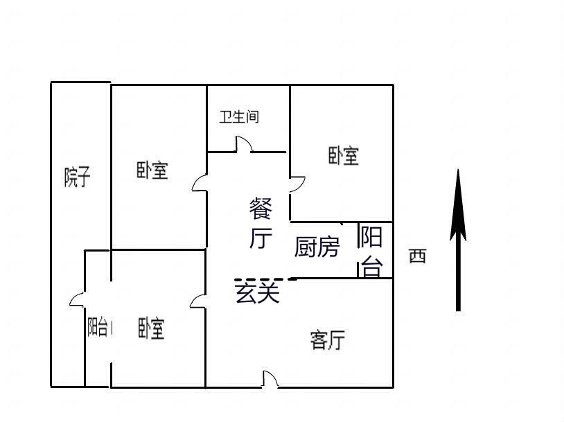 龙溪香岸 3室2厅  精装 110万