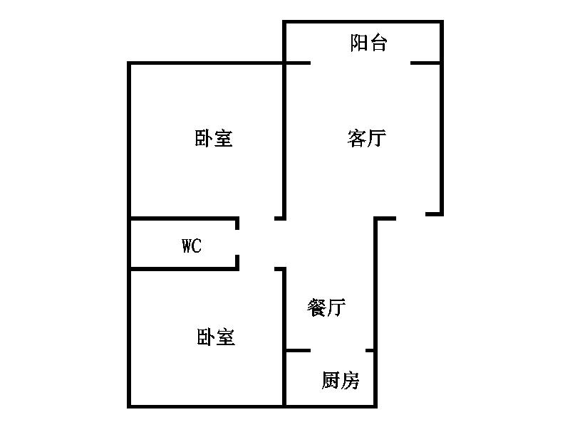 幸福家园 2室2厅 5楼