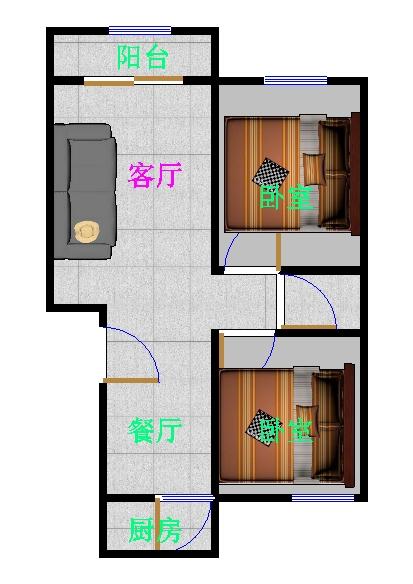 乾城保障房 2室1厅 3楼